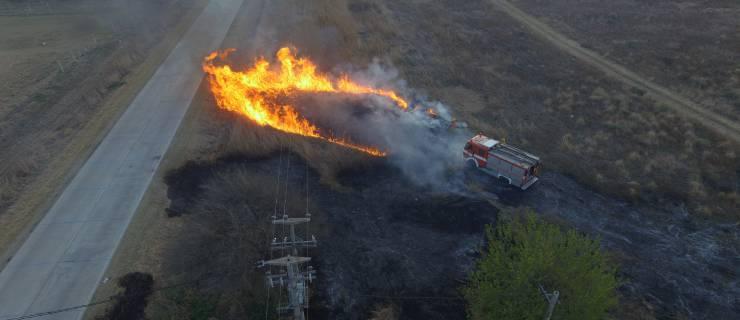 Incendio sobre empalme entre ruta 5  y C45