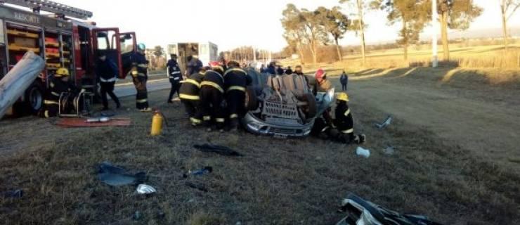 Una mujer con graves heridas en nuevo despiste sobre la Autovía
