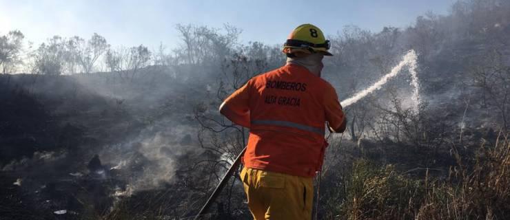 El fuego consumió ocho hectáreas de monte.
