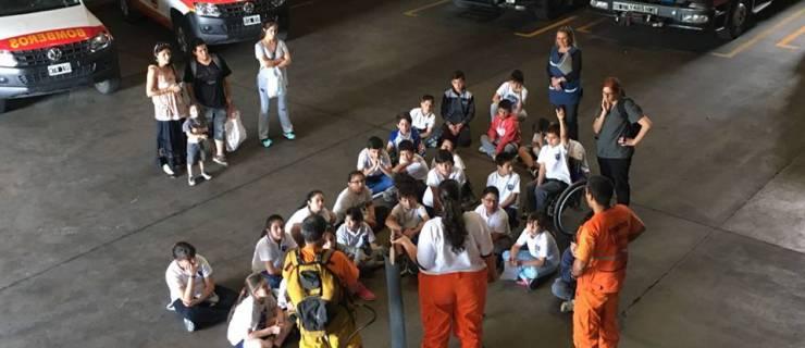 Visita de alumnos de la Escuela San Martín