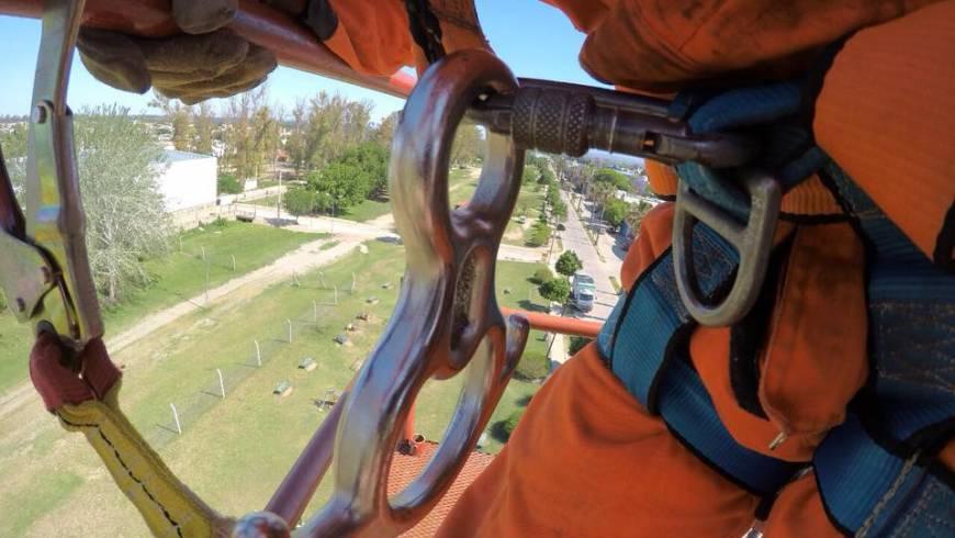 Prácticas de rescate en altura