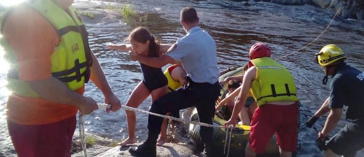 Más 60 personas fueron rescatadas del río Anisacate