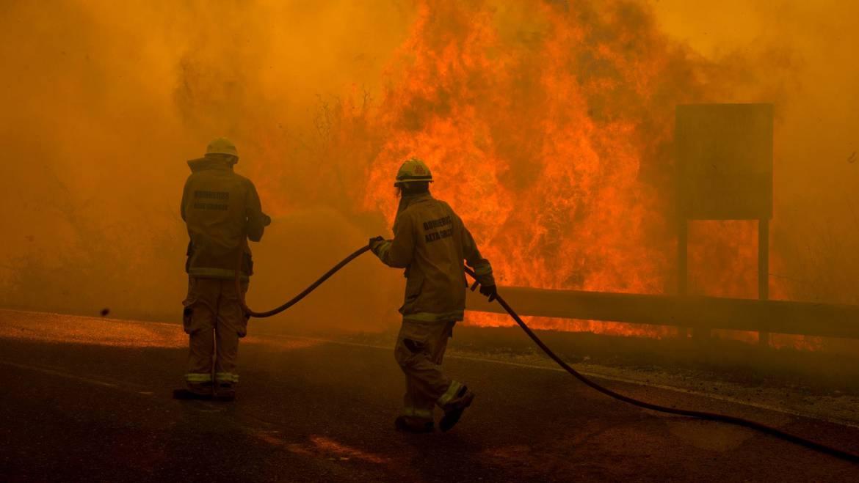 Incendio camino al Observatorio